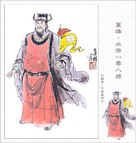 水浒传宋江简笔画